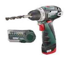 Дрель-шуруповерт 10.8 В Li-Ion PowerMaxx BS Basic Set METABO